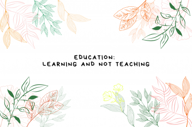 Education: Learning and not Teaching