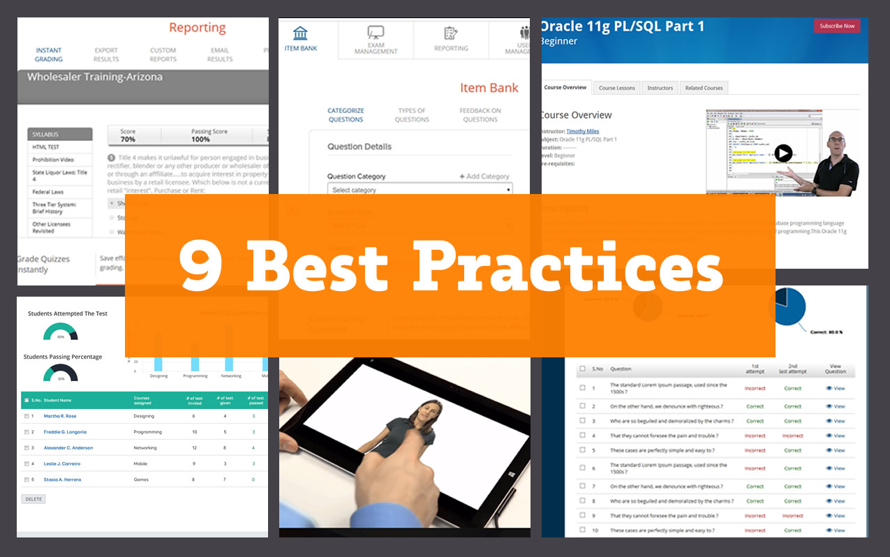 Best Practices for Presenting Content on e-Learning Course